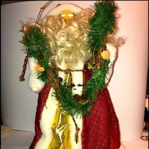 Wreath Maker Santa Table/Tree Topper